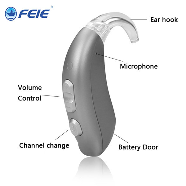 Headphone for Deaf Headset Listeing DeviceMost Powerful Mini BTE Hearing Amplifier In The Ear with Battery A13 Hearing Aid MY-22 analog bte hearing aid deaf sound amplifier s 288 deaf aid with digital processing chip free shipping