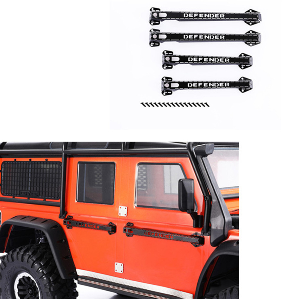 Metal Door Handles For 1/10 Traxxas TRX-4 TRX4 D90 D110 RC Crawler Car For Land Rover Defender RC Stainless Steel Door Handle