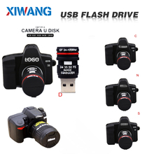 Флеш-накопитель usb 32 ГБ флеш-накопитель 128 ГБ мультипликационная зеркальная камера флеш-накопитель 64 ГБ 8 ГБ 4 ГБ u Диск высокоскоростной USB 2,0 флешка, подарок