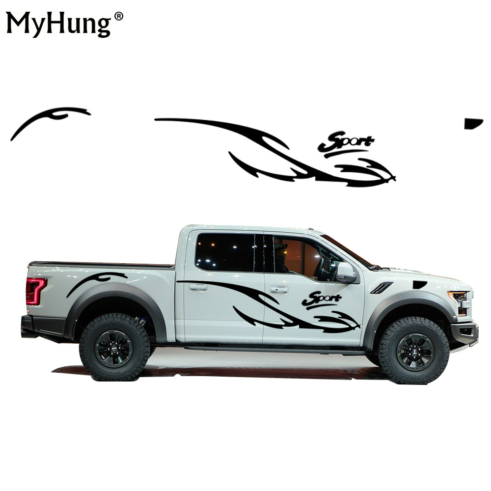 Car Styling For Mitsubishi L200 TRITONG Waterproof car accessories Car Whole Body Sticker Pickup Off-Road Vehicle Stickers 2PC car styling quality vinyl decal sticker cool racing sport stripes car stickers on the whole body car accessories for toyota reiz