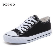 hot deal buy 2018 autumn new fashion women shoes casual flats solid canvas classic solid color women casual shoes sneakers
