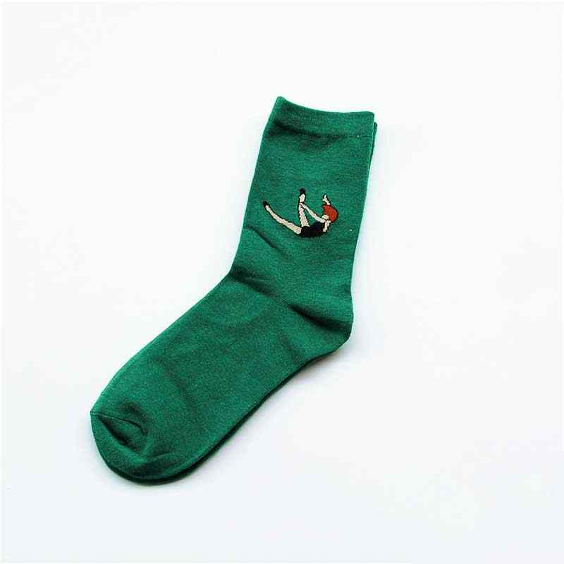 5 пар в комплекте модные женские туфли Короткие хлопковые носки с персонажами из мультфильмов Однотонная повседневная обувь для танцев и Плавание забавные из дышащей хлопковой ткани кольцо на средний палец арт женские носки