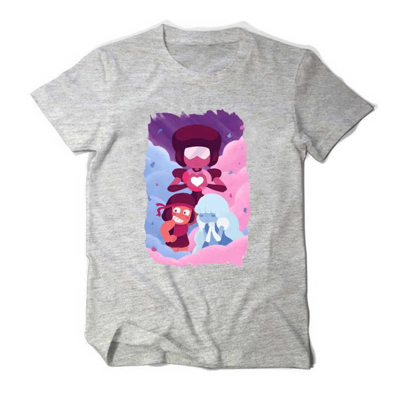 bb2a1a0356d8f Anime T-Shirt Men Steven Universe Garnet LGBT Lesbian White T shirt Women  Sugar Life Adventure Crystal Gems Top Tee