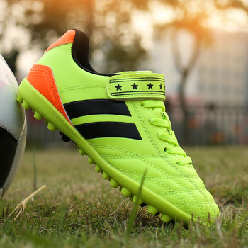 Indoor Shoes Soccer   Broken Nail Training Soccer Shoes TF Hard Court Turf Football Boots Indoor Cleats Trainer Boys And Girls Sports Younger Students