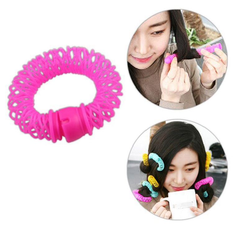 hair curler Roll roller Twist Hair Care Styling stick Roller DIY tools harmless safe plastic for lady girls round large wh
