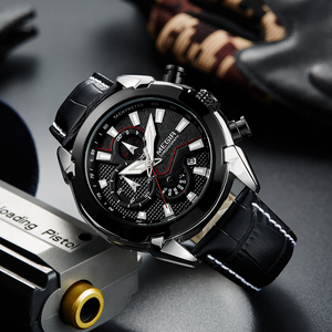 Image 3 - Megir クロノグラフスポーツウォッチ男性の高級クリエイティブ腕時計時計男性レロジオ masculino 2065 陸軍軍用腕時計