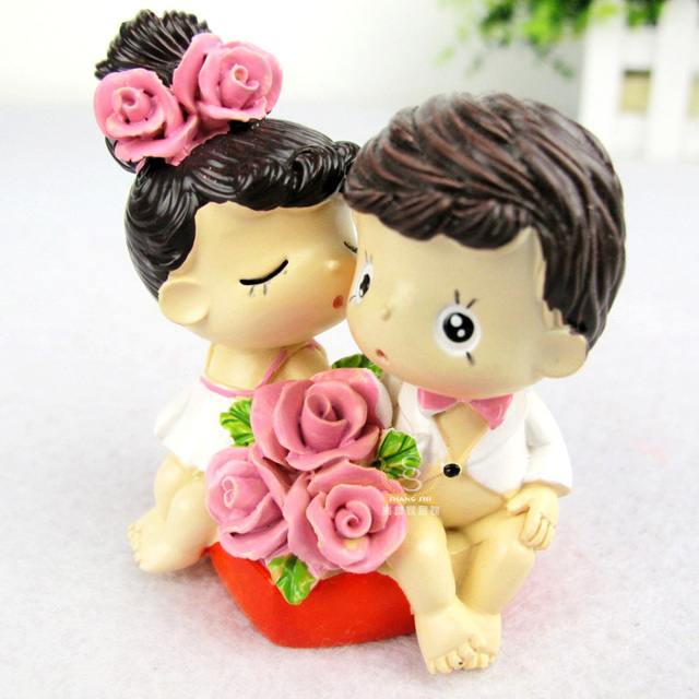 Free Shipping Bride and Groom Wedding Cake Topper Wedding Doll ...