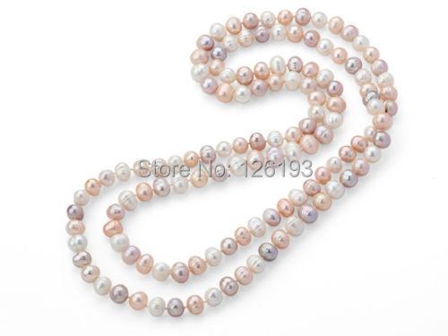 AA 50 CM natural agua dulce perlas joyas collar collar de perlas nuevo Collier