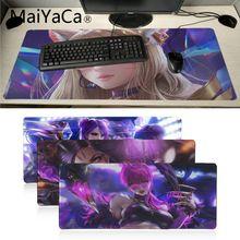 Maiyaca League of Legends virtual girl band K DA KaiSa2 anime mouse pad gamer gaming Speed Version For CS Dota2 LOL