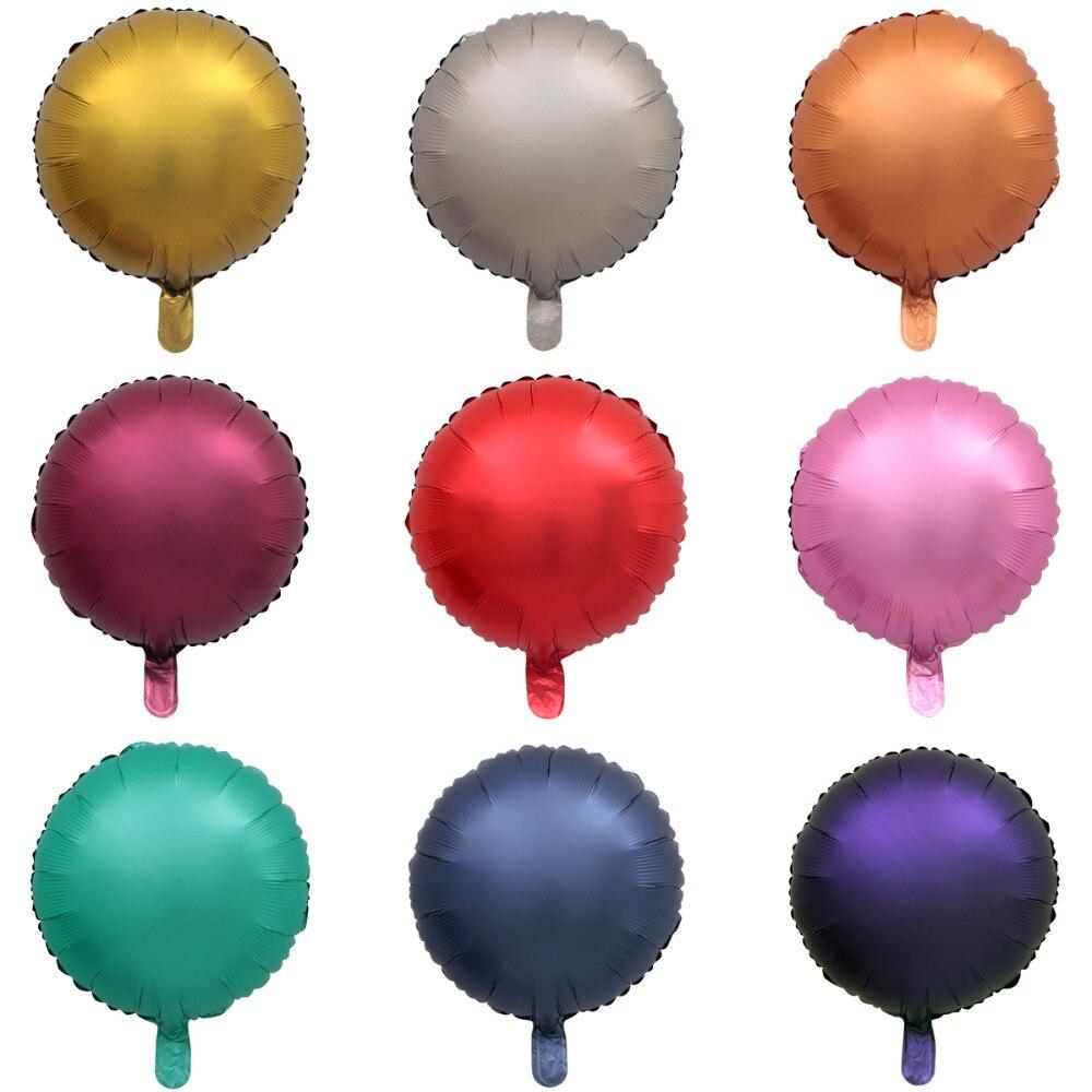 Металлический шар из хромированной фольги, 50 шт./лот, 18 дюймов, в форме сердца и звезд, круглые матовые гелиевые шары для украшения дня рождения, свадьбы, вечеринки-3