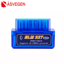 цена на Asvegen ELM327 Mini ELM 327 V2.1 OBD2 Bluetooth Interface Auto Scanner obd ii Diagnostic Tool works on Android Windows Symbian