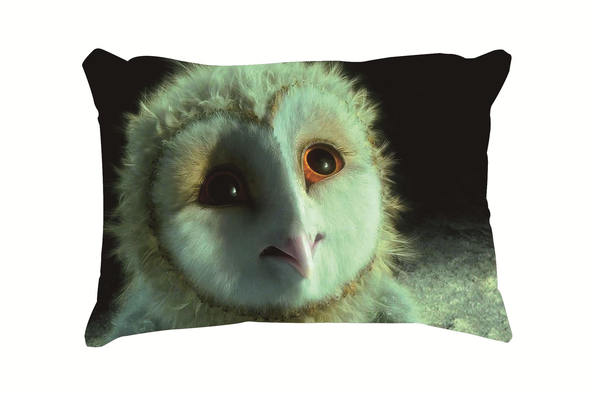 Cute Owl Baby Customized Cotton Linen Rectangle Throw Pillow Case Decorative Cushion Cover Pillowcase 20*30 Inch(50*76cm)