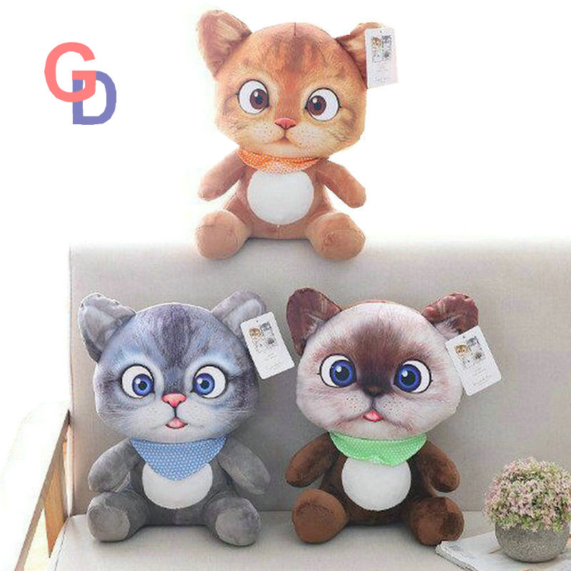 movie action figure Three Diablos Puss Cat plush toy stuffed Cushion Cat animal birthday christmas gift Pillow toys for children japan creative alice back big cat plush toy cat pillow sofa cushion car decoration cat stuffed animal doll