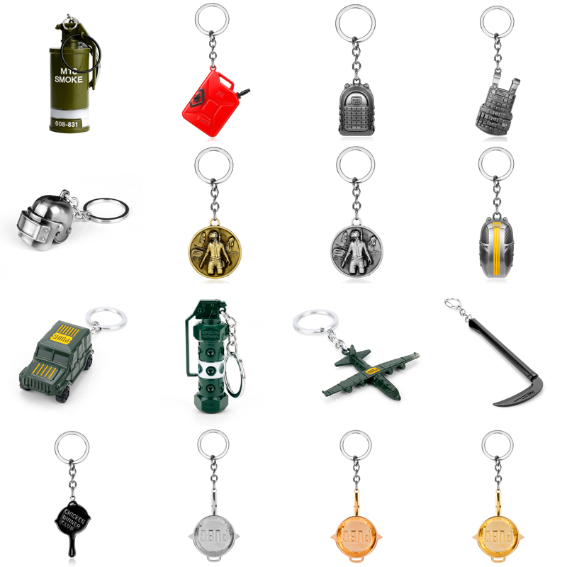 Game PUBG Series Playerunknown's Battlegrounds Keychain 3D Level 3 Body Armored Vest Military Men car keyrings