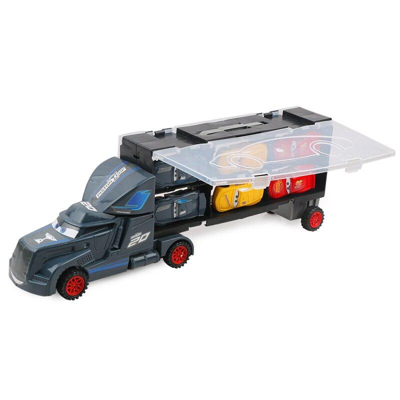 7pcs Disney Pixar Cars 3 Lightning Mcqueen Jackson Storm Mack Uncle Truck 1:55 Diecast  Model Birthday Gift Toy For Boy Kid #6