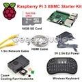 Raspberry Pi 3 XBMC KODI OSMC Media Center Kit RF Remote Case 16GB SD Card Network Cable Case Cooling Fan 5V 2.5A Power Supply