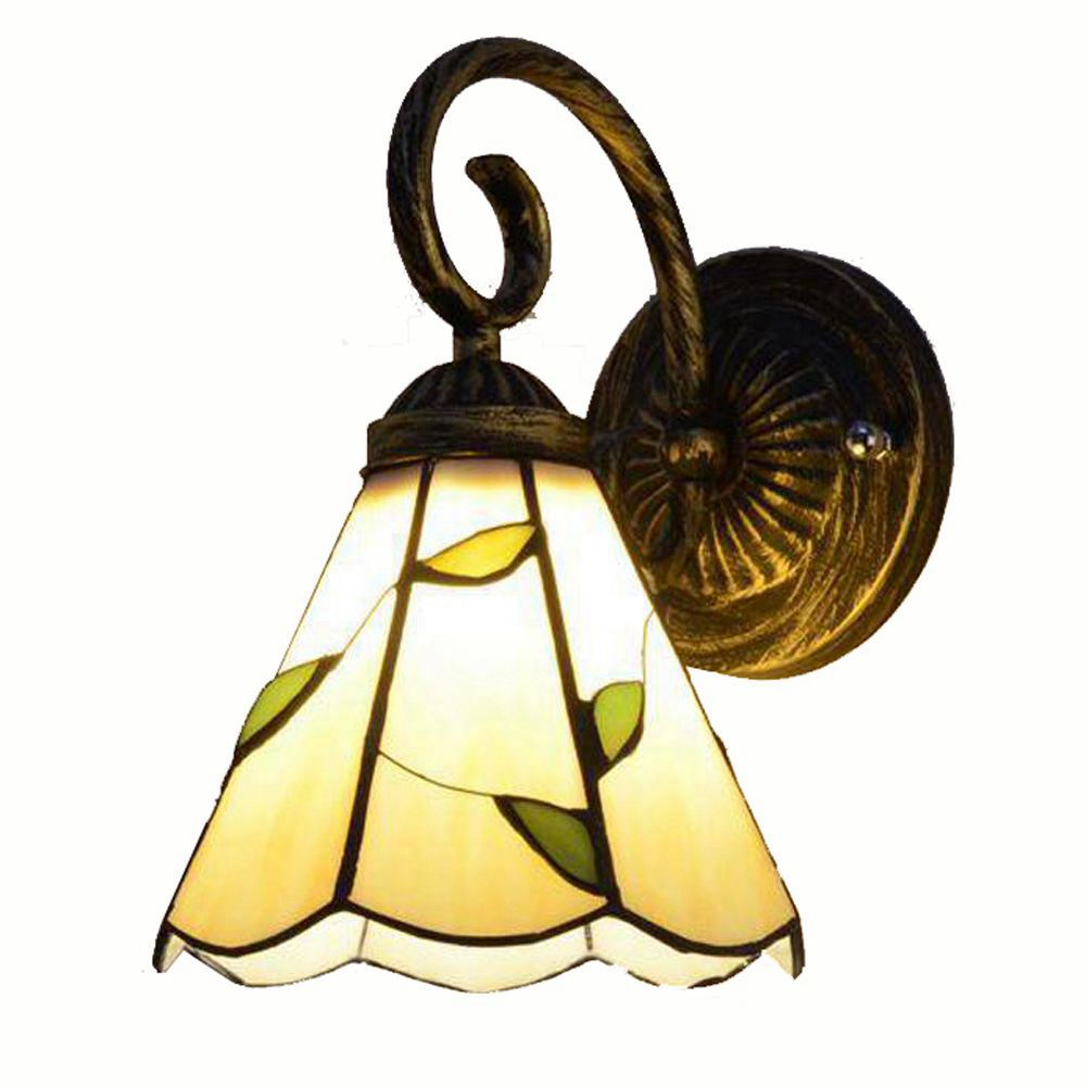 Tiffany Corridor Wall Lights Bedroom Bedsides Beige Glass Lampshade Wall Scocne Balcony Porch Mirror Front Bathroom Wall LightTiffany Corridor Wall Lights Bedroom Bedsides Beige Glass Lampshade Wall Scocne Balcony Porch Mirror Front Bathroom Wall Light