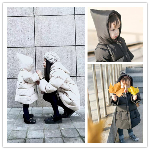 ФОТО Male baby daughter's long child mother pointed hat with thick jacket cotton clothes winter coat
