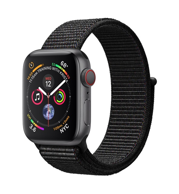 Apple Watch Watch Series 4, OLED, Touchscreen, GPS (satellite), Mobile, 30.1 g,Black