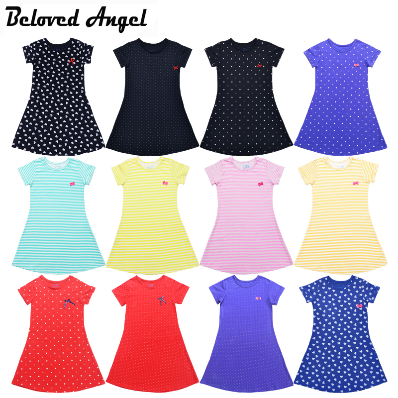 New 2018 Baby Girls Summer Dress Kids Clothes Girls Party Dress Children Clothing Vintage Princess Party Wear Teens Girl Dresses