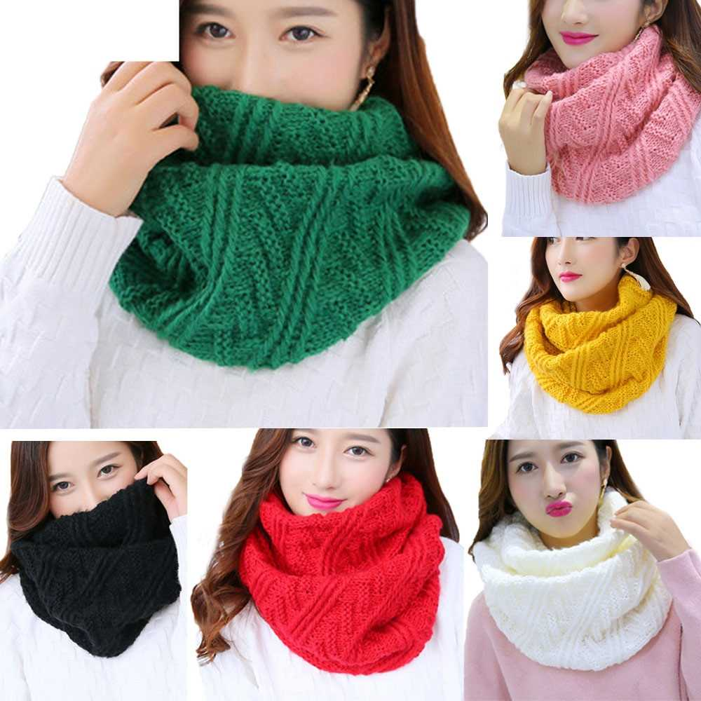 JAYCOSIN 2018 Nieuwe Mode Sjaal Fashion Vrouwen Warm Knit Neck Circle Cowl Snood multifunctionele ScarfOct4
