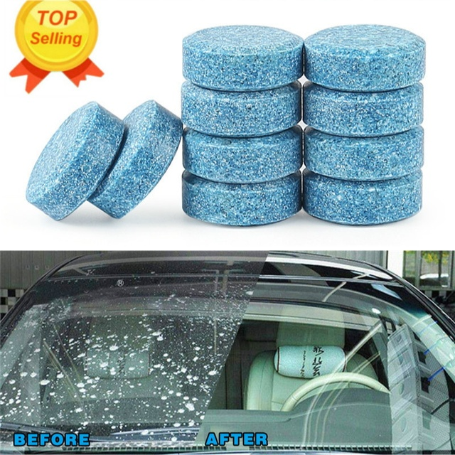 10x Car sticker wiper tablet Window Glass Cleaning Cleaner Accessories For Skoda Octavia 2 A7 A5 A4 Vrs Fabia Rapid Yeti Superb
