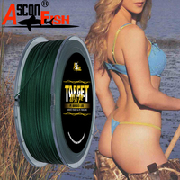 Ascon Fish Braided Fishing Line 16 Strands 500m Hollowcore16 Braid Lines for Carp Fishing Leashes 500yd 20 500LB Green