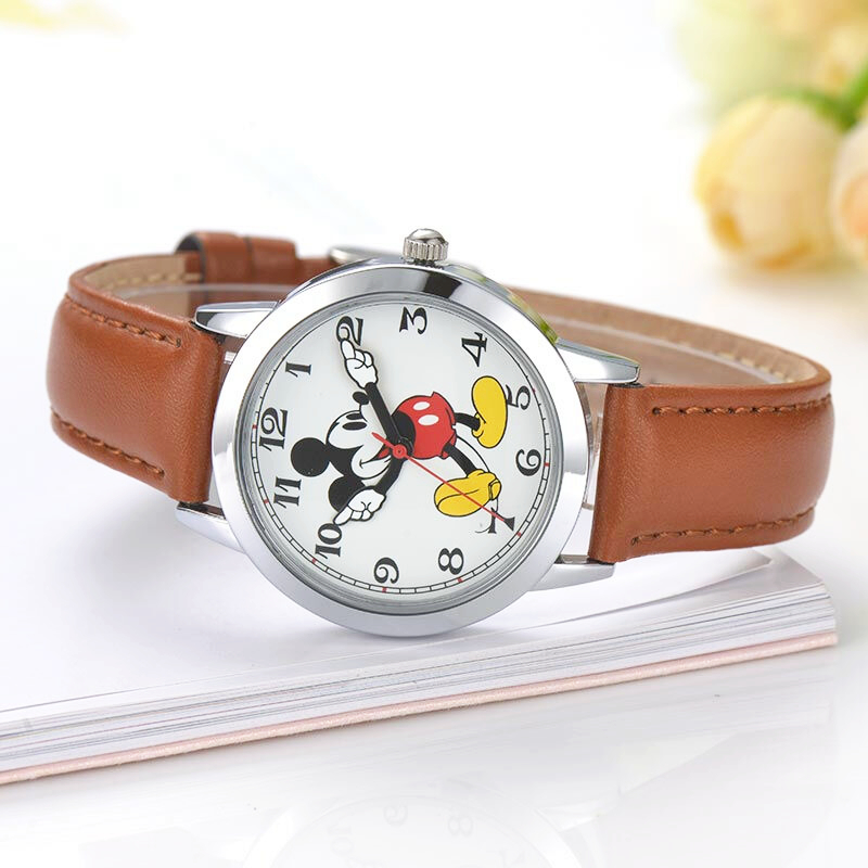 New Mickey mouse cuties cartoon horloge Boy girl love fashion - Kinderhorloges - Foto 2