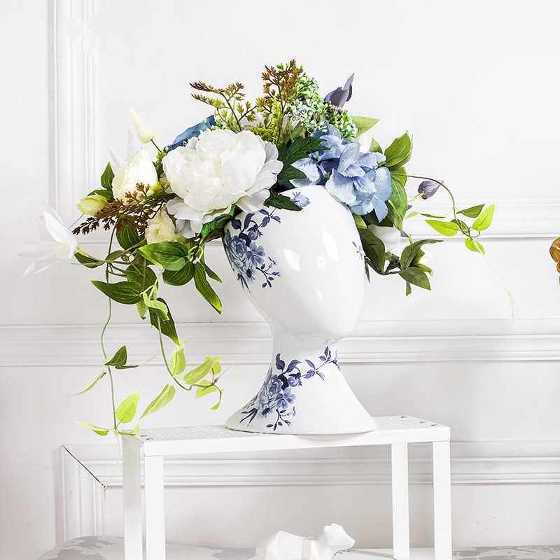 home goods decorative vases.htm modern head shape ceramic for wedding home decor living room  modern head shape ceramic for wedding