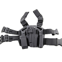 Black Leg Holster 1911 Airsoft Tactical Hunting Drop Gun Holster for Gun Colt 1911 Double Mag Pouch