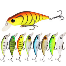 8Pcs/lot 92mm 13.4g 3D Eyes Lifelike Fishing Bait Lures Tackle Artificial Wobblers Crankbait 2 Treble Hooks Fishing Bait For Sea lifelike fish style fishing bait w treble hooks green golden