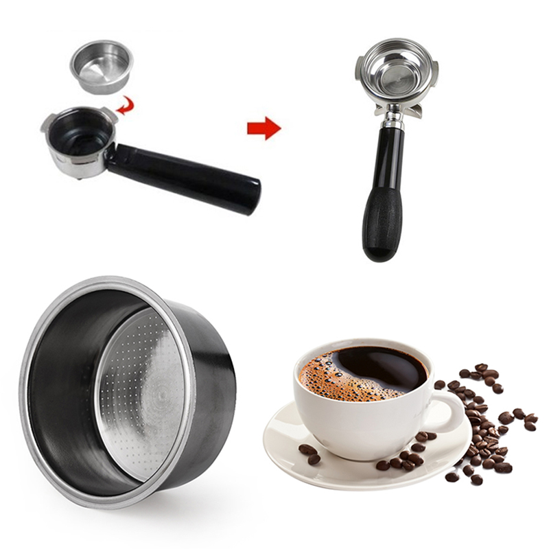 High Quality Stainless Steel 1x Coffee Cup Pressurized Filter Basket For Breville Delonghi Krups Replacement Hot Sale
