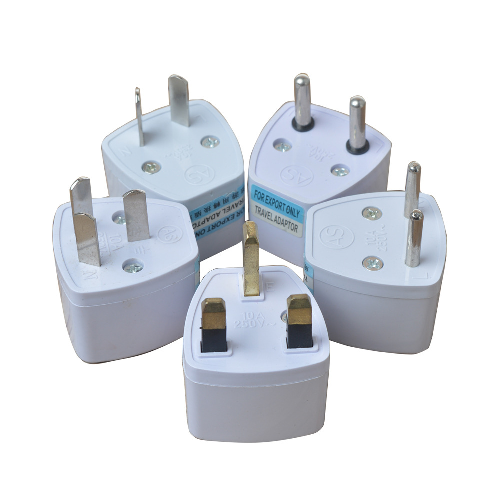 1PC Universal EU AU UK To Plug Socket Portable Travel Wall Charger Converter High Quality AC Power Adapter Outlet Conversion