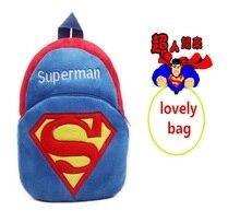 Velvet   Children's Plush Backpacks  Hello Kitty  Spider-Man Strawberry powder Superman  bag for child   Cute animal backpack