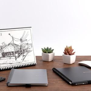 Image 5 - Elfinbook 똑똑한 재사용 할 수있는 지울 수있는 나선형 A5 B5 노트북 종이 메모장 저널 그림 그리기 rocketbook처럼 포켓북