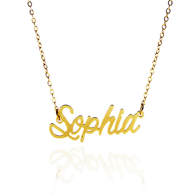 full lowercase necklace your gold letter item personalized solid initial ultra tiny