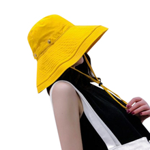 Women Fashion sun hat  Concise Casual Solid Color Wide Brim UV Protection Folding Bucket Hat