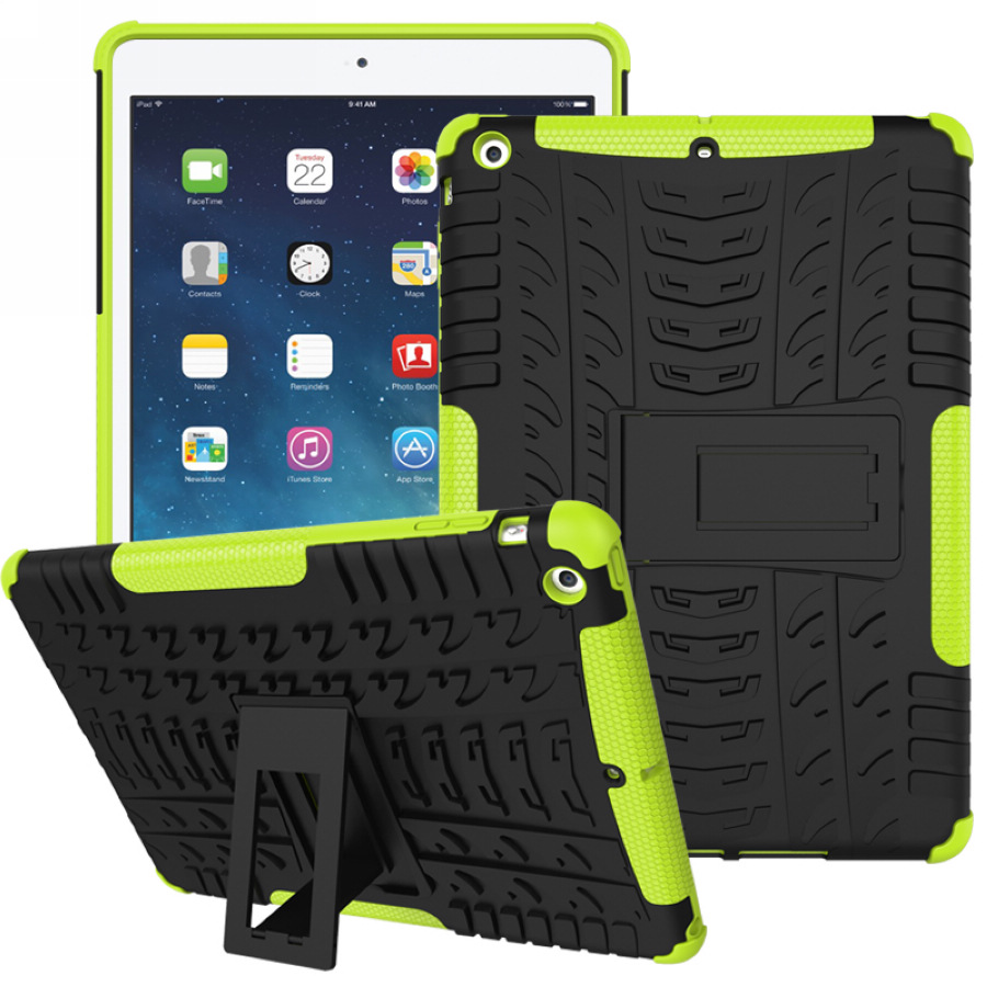 For Apple iPad Air 1 / Air 2 Tough Impact Case Heavy Duty Armor Hybrid Anti-knock Silicon Hard Back Cover For iPad 5 / 6 for amazon 2017 new kindle fire hd 8 armor shockproof hybrid heavy duty protective stand cover case for kindle fire hd8 2017