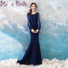 Vestido poete azul marinho
