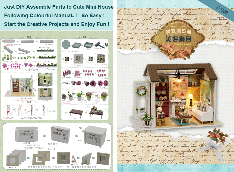 CUTEBEE-Doll-House-Miniature-DIY-Dollhouse-With-Furnitures-Wooden-House-Toys-For-Children-Gift-Happy-Times-Z008-5