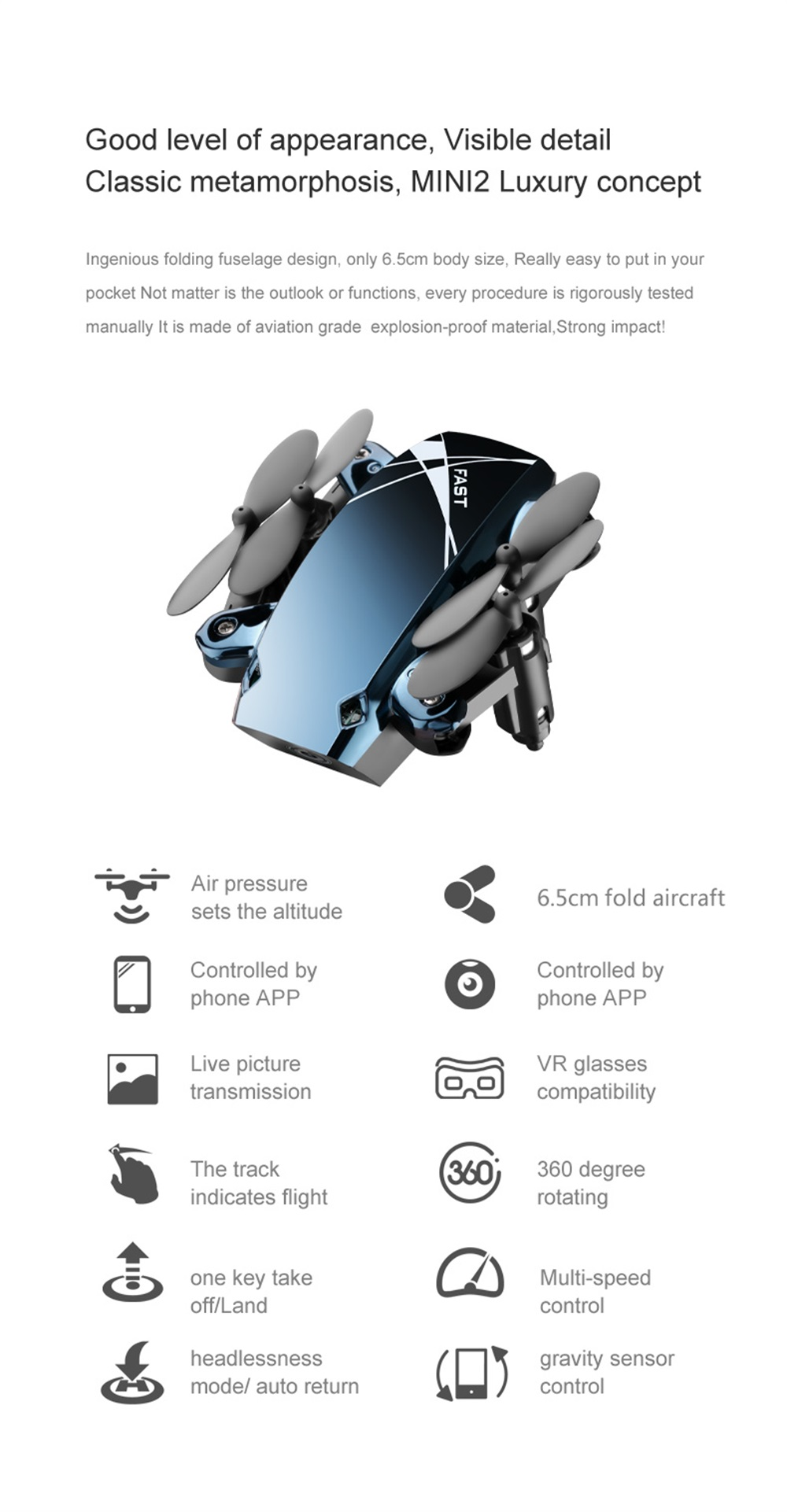 S9HW Mini Drone With Camera S9 No Camera Foldable RC Helicopter Altitude Hold RC Quadcopter WiFi FPV Micro Pocket Dron Boy Toys 9