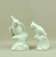 Porcelain Parrot Sculpture Handmade Ceramics Macaw Miniature Adornment Art and Craft Accessories for Cupboard and Shelf Decor