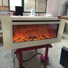 Современный пламя белый цвет 50 дюймов Встроенный Электрический камин
