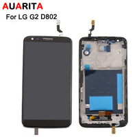 1pcs LCD For LG G2 D802 LCD Display With Touch Screen Digitize Assembly With Frame Black