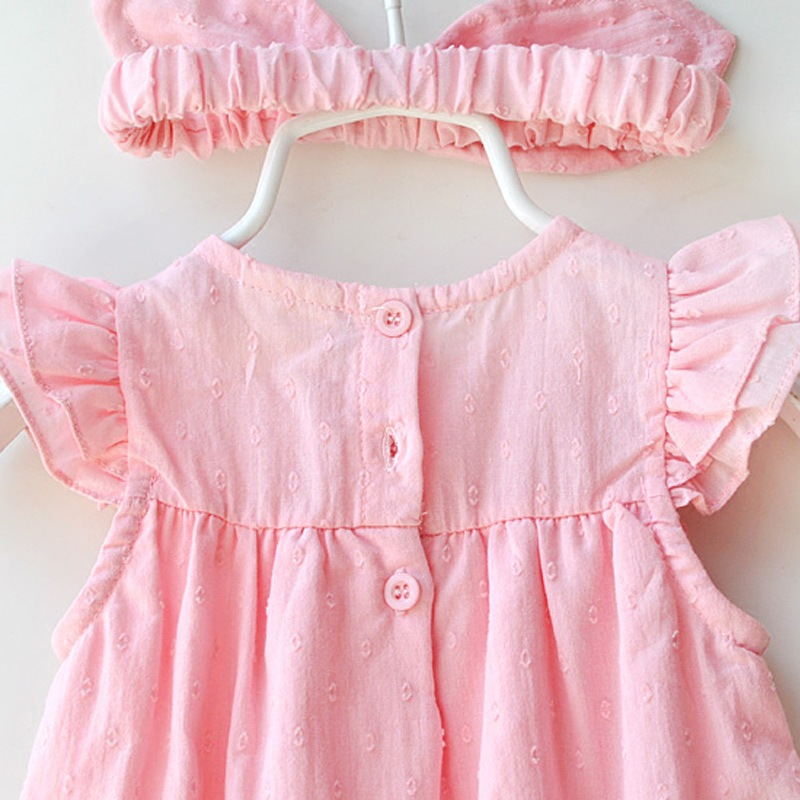 Summer Short Sleeves 2019 Cute Children Dress Babys White Clothes Birthday Gift For Newborn Baby Cotton Kids Clothing in Dresses from Mother Kids