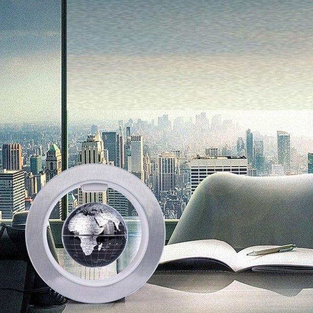 Magnetic Map Globe Circular Shape Base Anti Gravity Home Office Desk Decor  Globe Figurines U0026 Miniatures