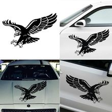 1 Pcs Fashion Reflective Eagle Decal Vinyl Car Stickers Auto Door Hood Cover Sticker Car Styling Wholesale