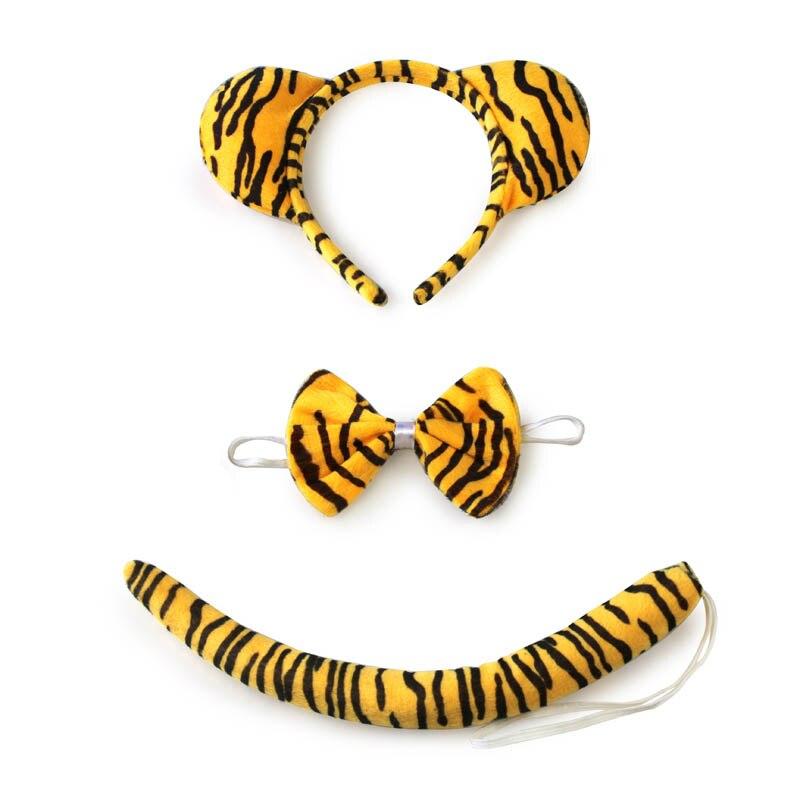 Детский, взрослый, животное, тигр, ухо, бант на голову, галстук, хвост, ободок для вечеринки, Рождество и Хэллоуин, вечерние украшения для косплея