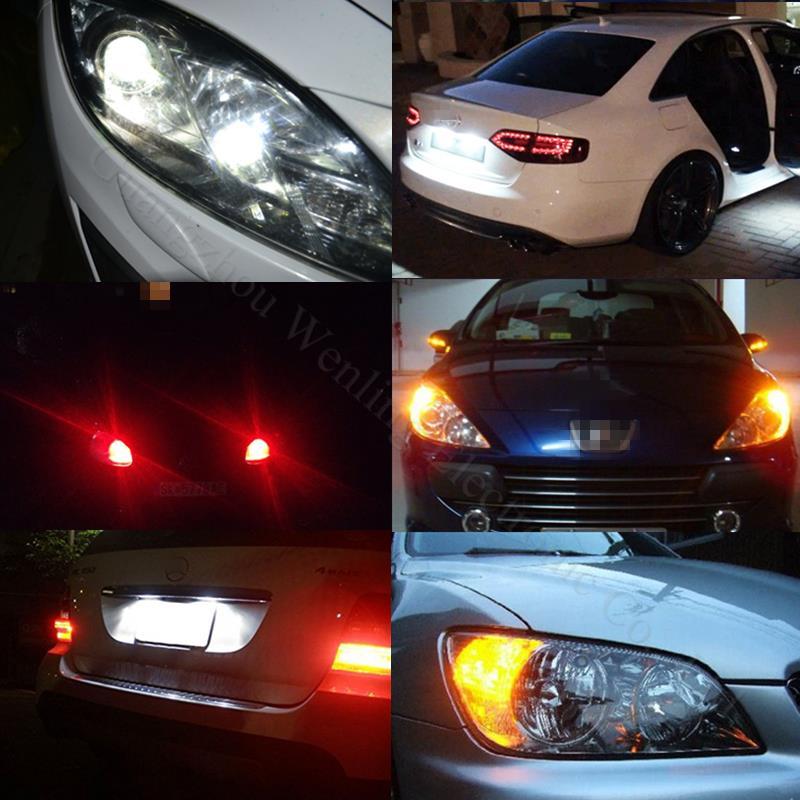 WLJH 4x 5W Canbus W5W LED T10 Light 3014 SMD 12V LED LED Car Car - Dritat e makinave - Foto 5