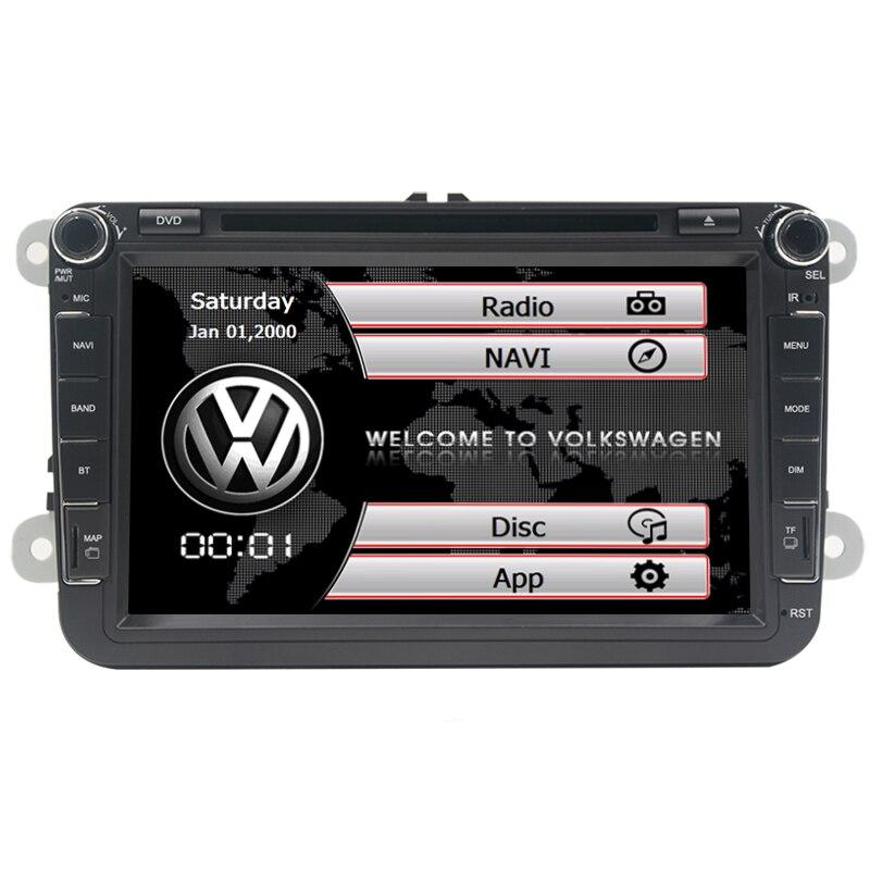 8 дюймов 2 Din Dvd-плеер Автомобиля Стерео Навигация Для <font><b>VW</b></font> POLO ГОЛЬФ PASSAT CC JETTA TIGUAN автомобиль радио gps с <font><b>Bluetooth</b></font> МЖК Карта